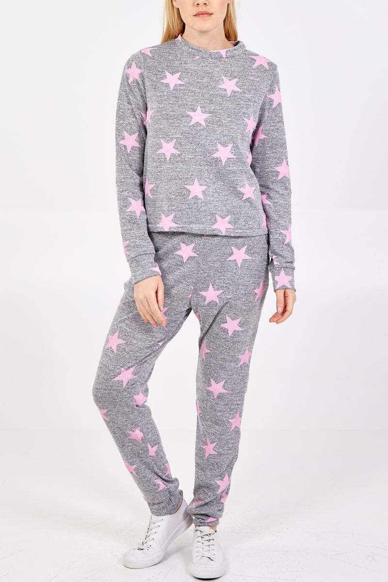 Star Print Lounge Wear Set