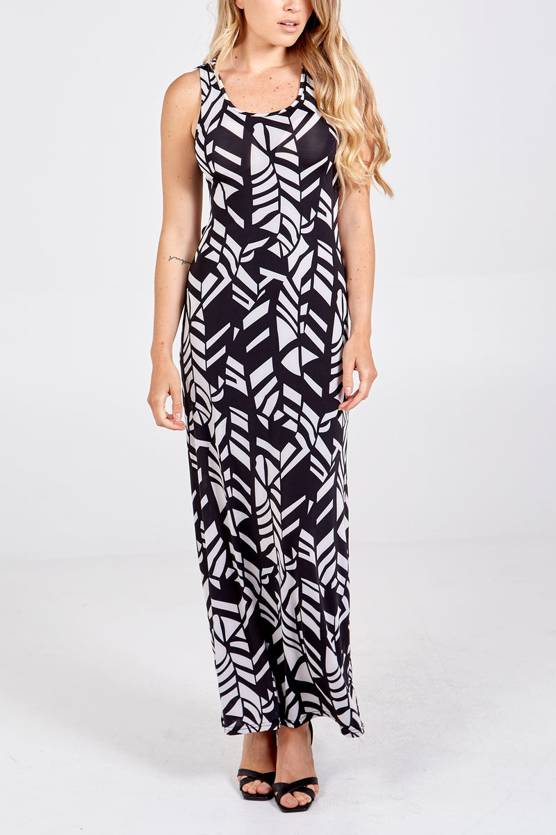 Criss Cross Back Maxi Dress