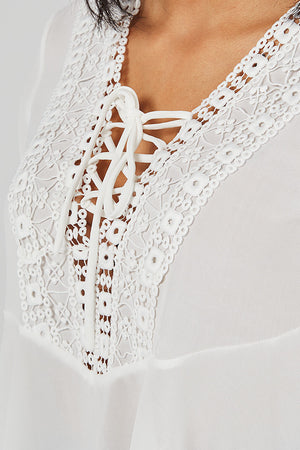 Crochet Shoe Lace A-Line Top