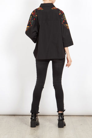 Batwing Embroidered Shirt
