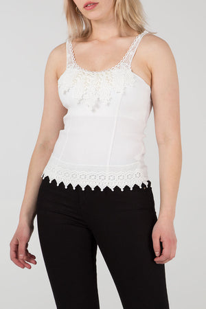 Beads And Lace Strappy Top
