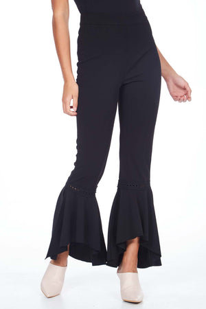 Fishtail With Lace Insert Trousers