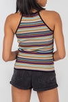 Multi Stripe Halter Knit Top