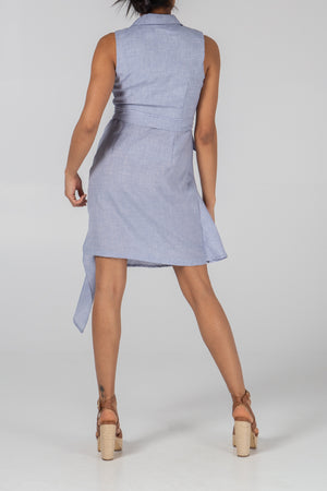 Cross Front Waterfall Dress