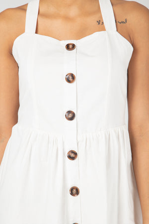 Cross Back Button Through Dress