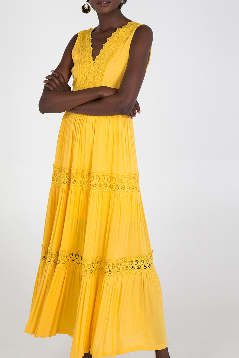Broderie Anglaise Maxi Dress