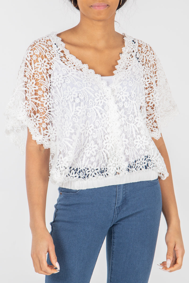 Double V Crochet Top