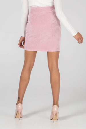Babycord Buckle Mini Skirt