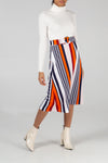 Multi Stripe A-Line Skirt
