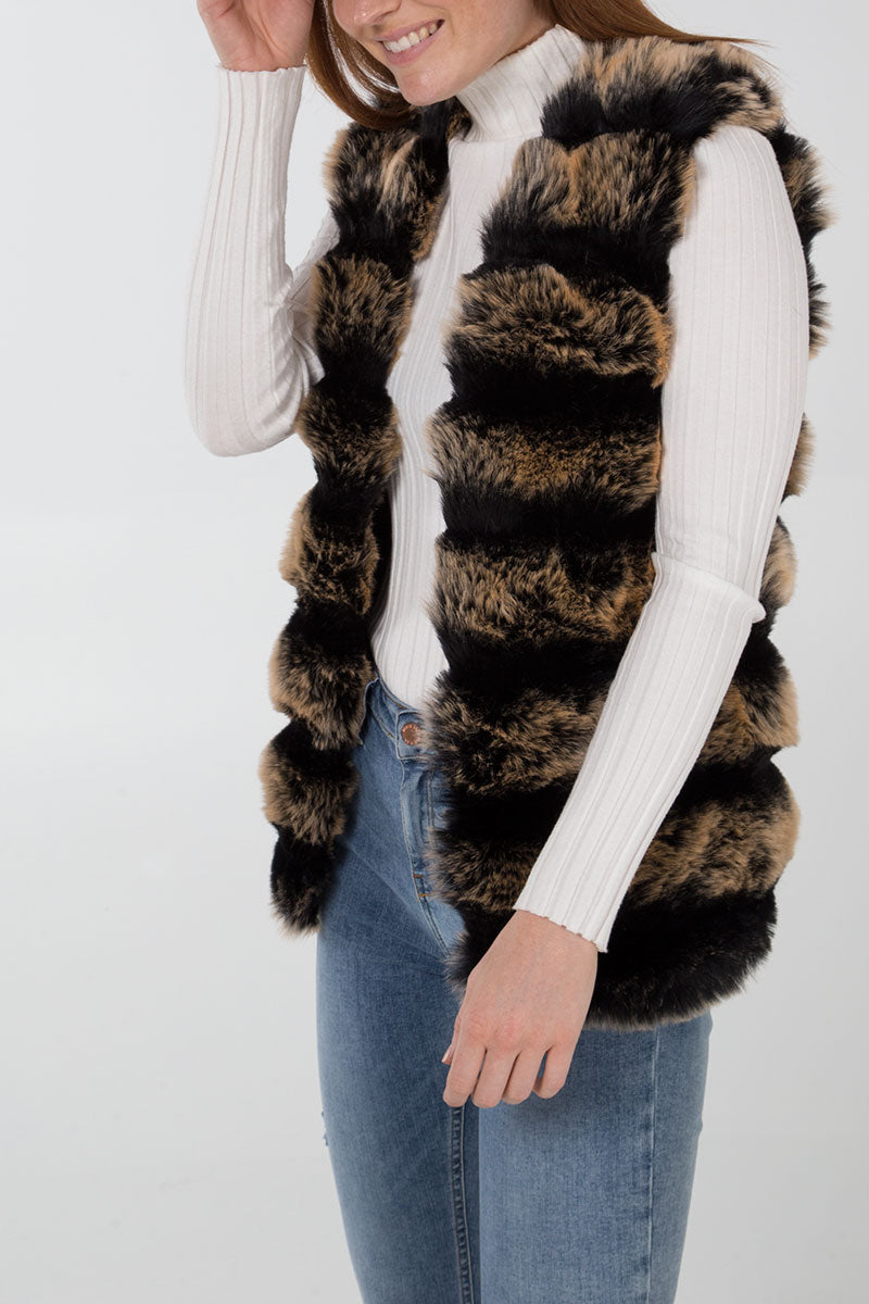 Faux Fur Two Tone Gillet