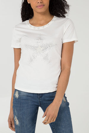 Beads & Pearls Star T-Shirt