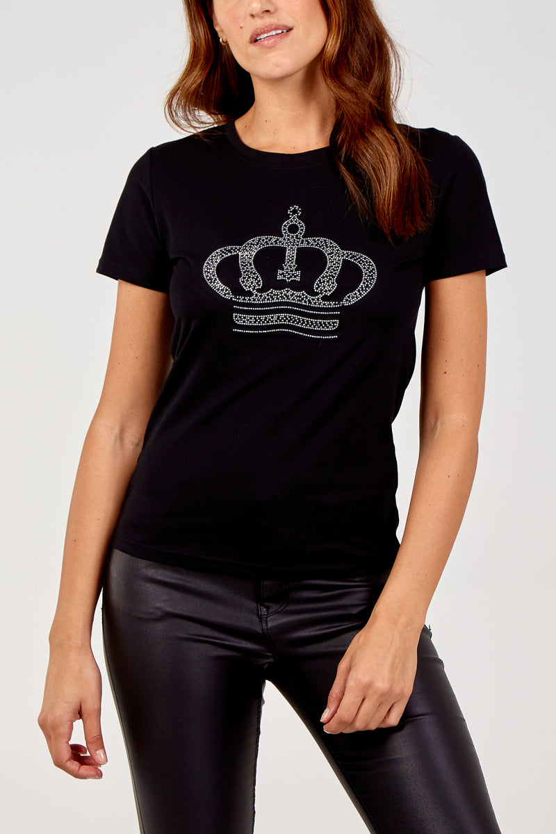 Diamante Crown T-Shirt