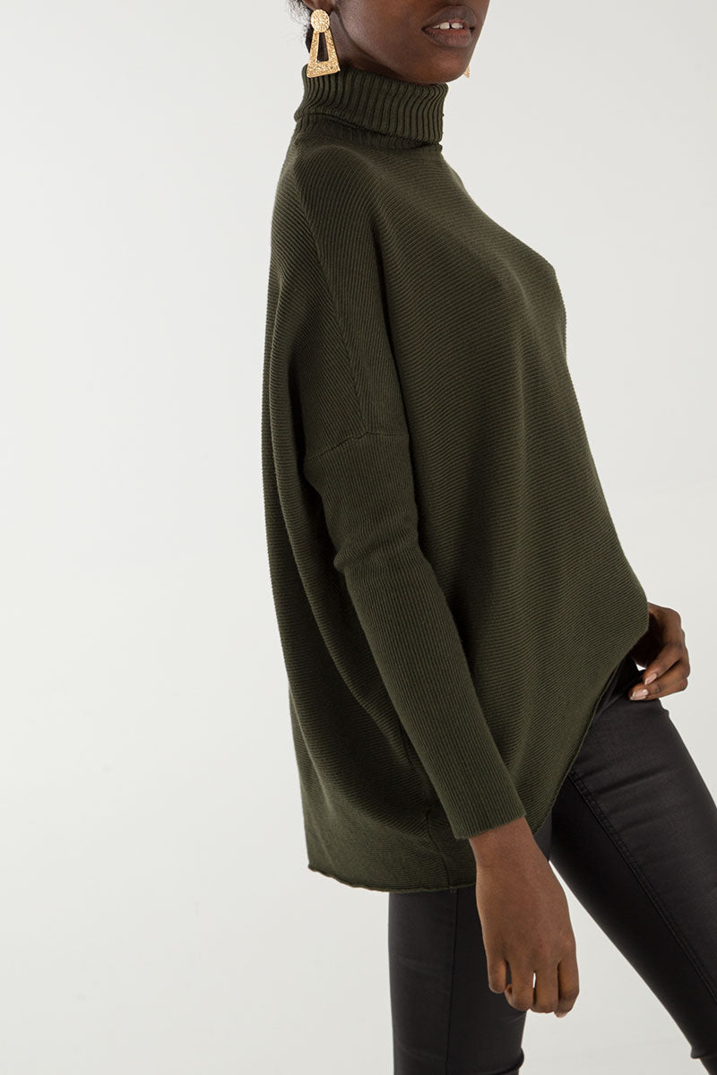 Roll Neck Oversized Jumper