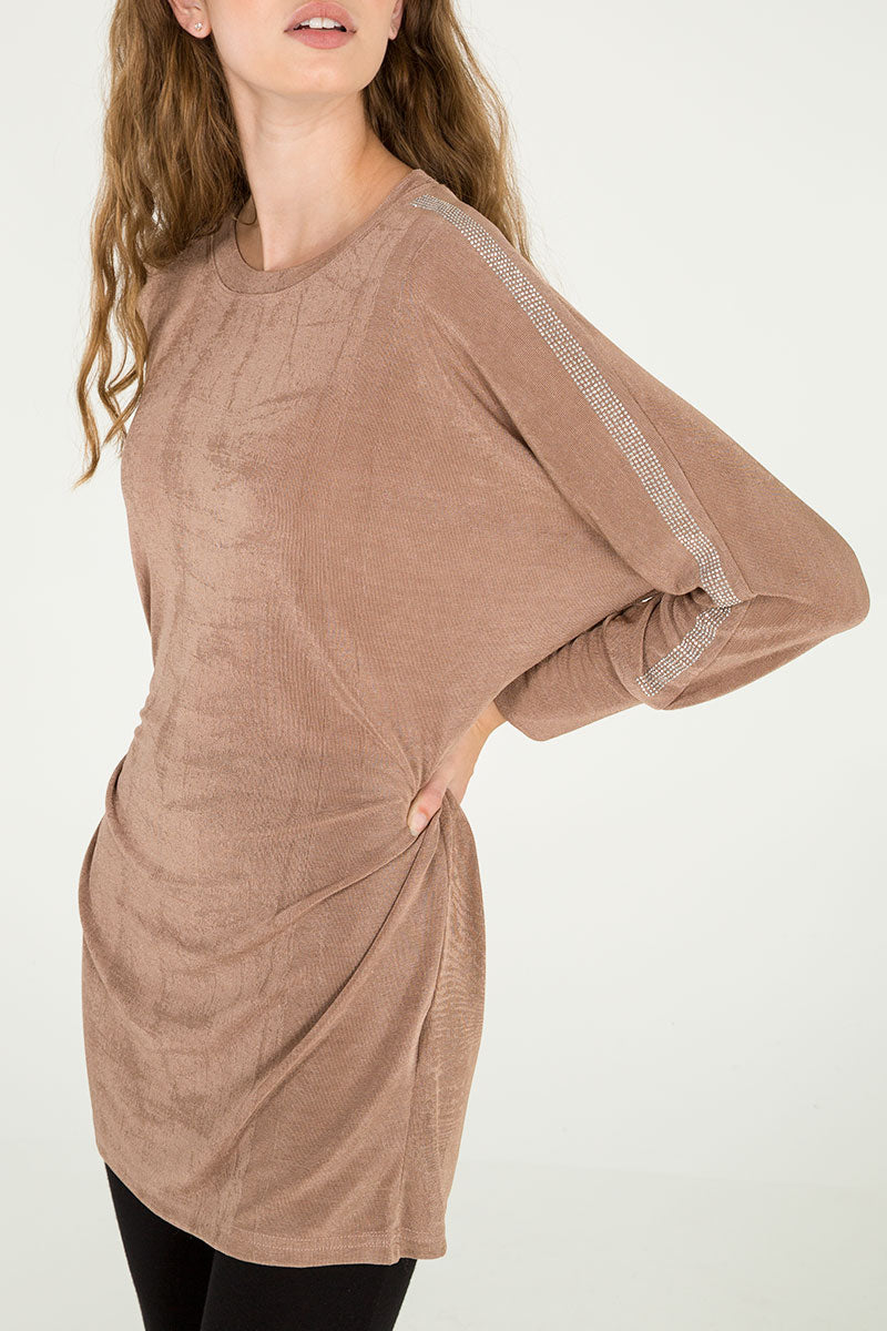 Diamante Detail Batwing Tunic
