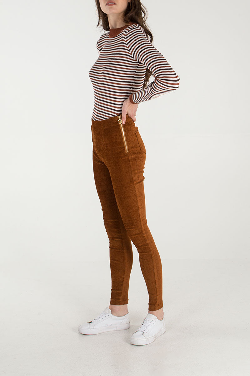 Side Zip Skinny Trouser