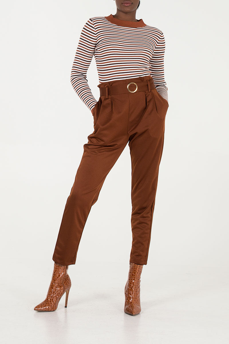 Tailored Belted Trousers