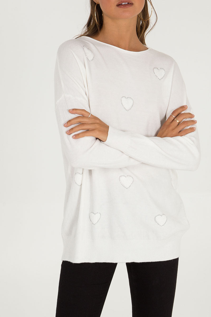 Diamante Heart Jumper