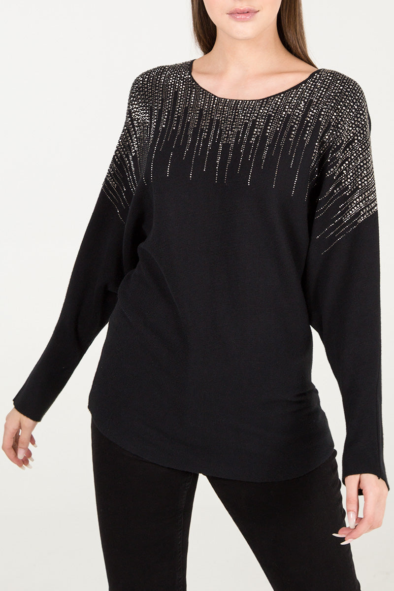 Waterfall Diamante Jumper