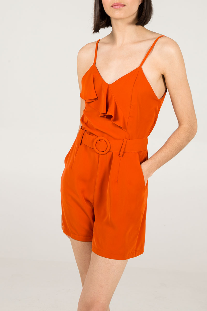 Belted Cami Strap Playsuit