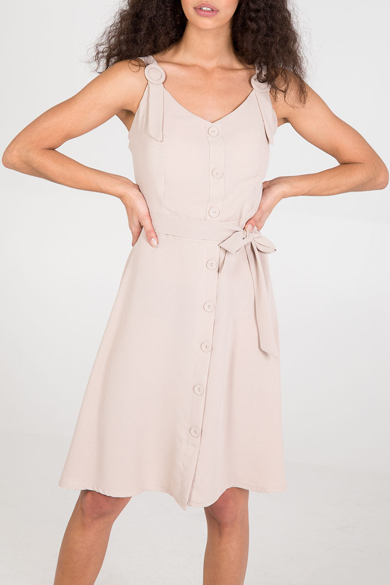 Midi Dress With Front Buttons
