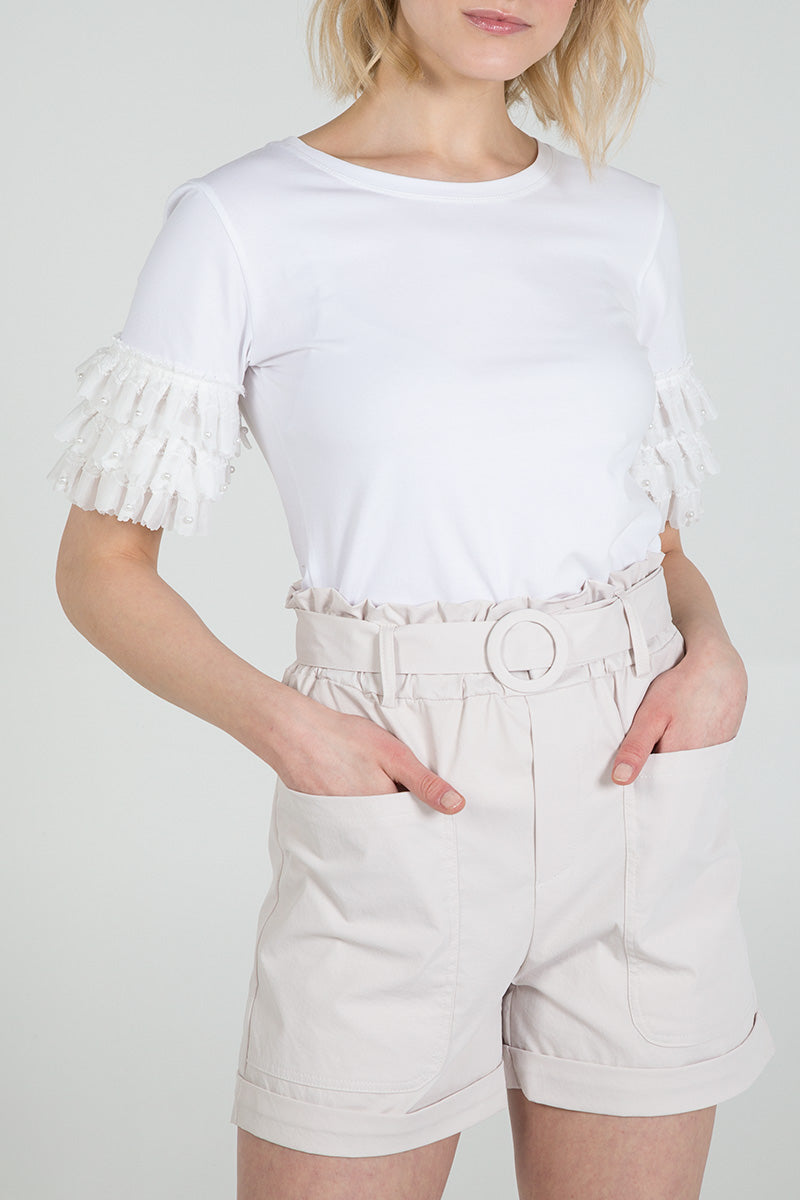 Two Pocket Belted Shorts