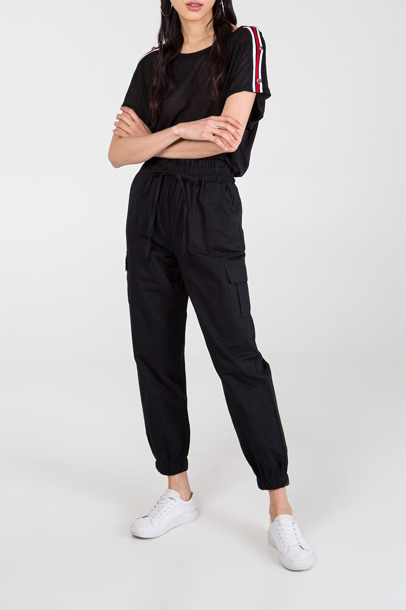 Elasticated Waist Combat Trousers