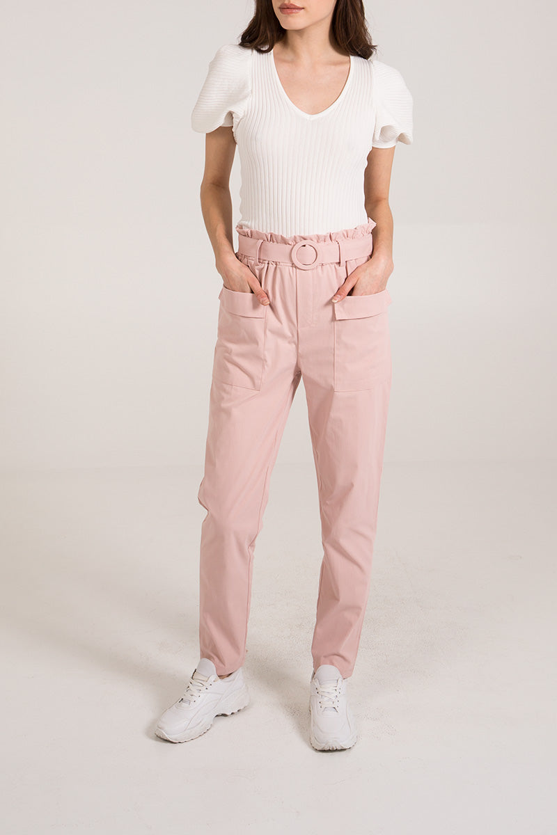 Front Pocket Belted Trousers