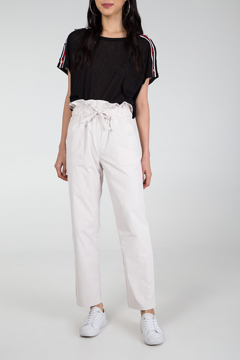 Draw String High Waist Trousers