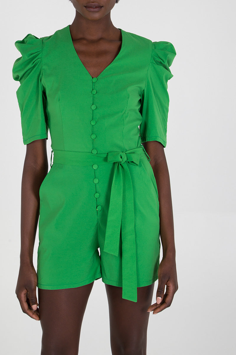 Multi Button Tailored Playsuit