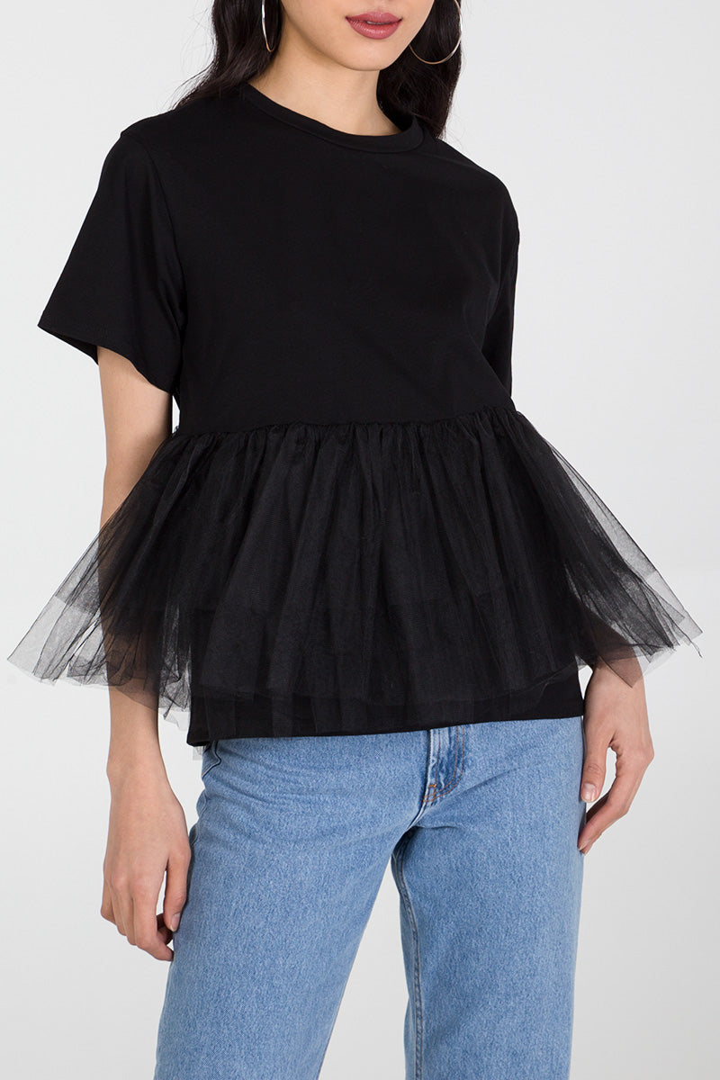 Tiered Ruffle T-Shirt