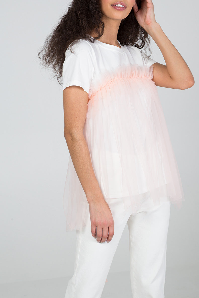 Organza Detail T-Shirt
