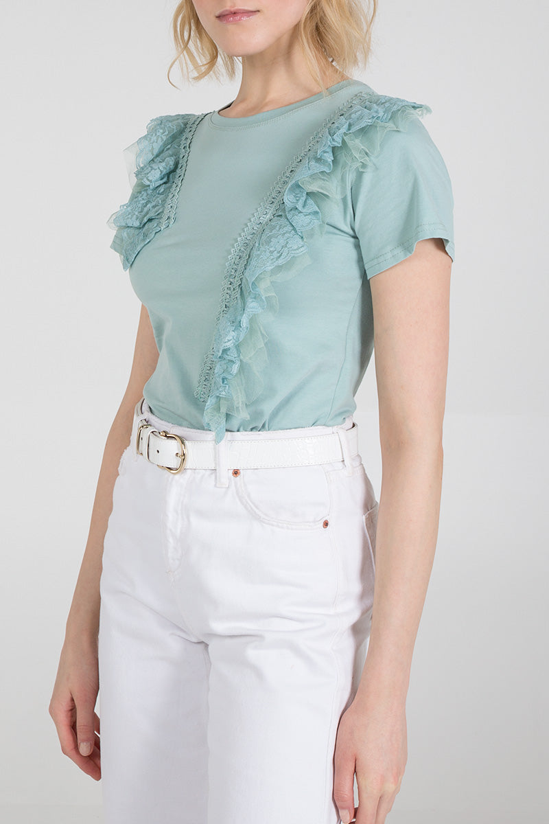 Diagonal Lace Top