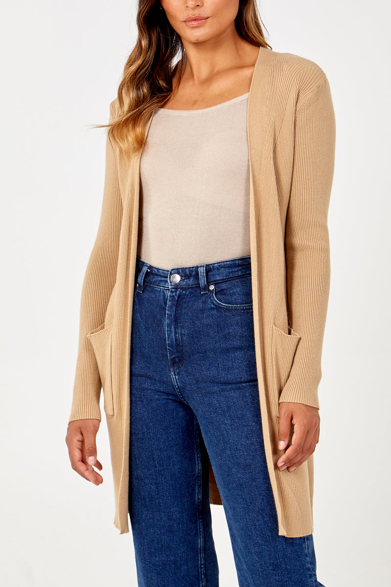 Long Line Cardigan With pockets