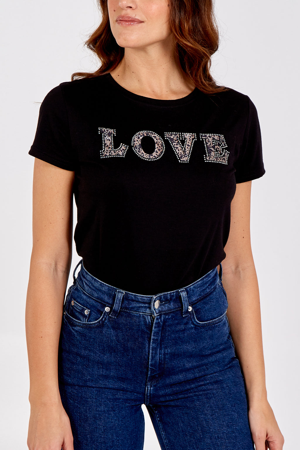 """Love"" Embellished T-Shirt"