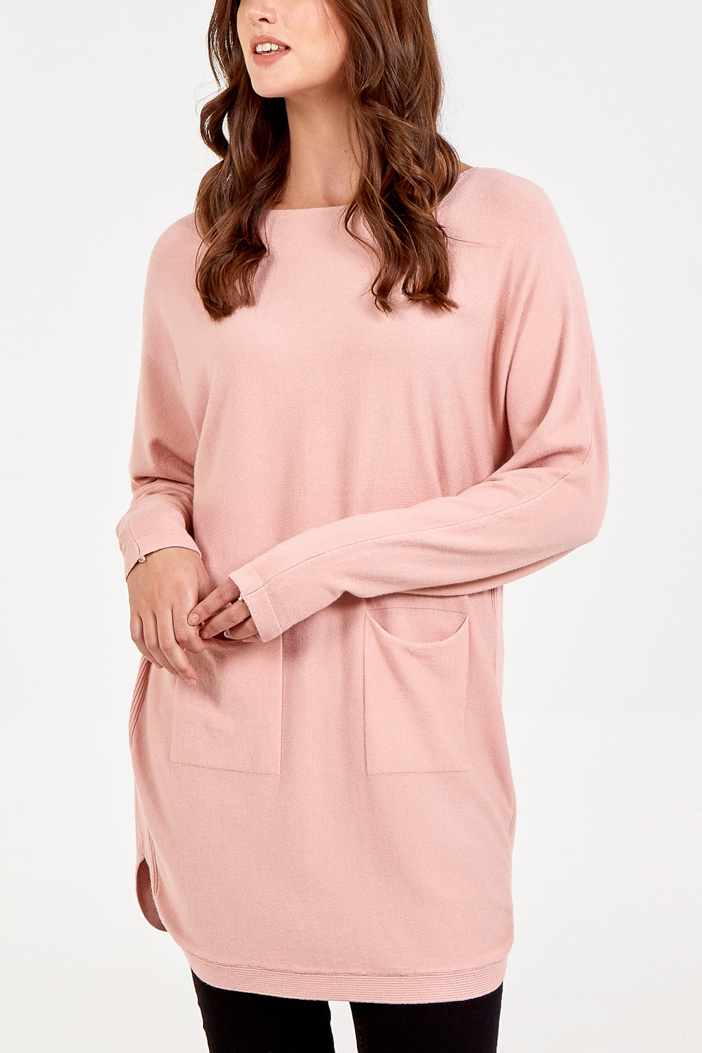 Double Pocket Round Neck Jumper
