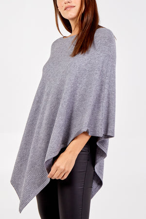 Diamante Detail Poncho
