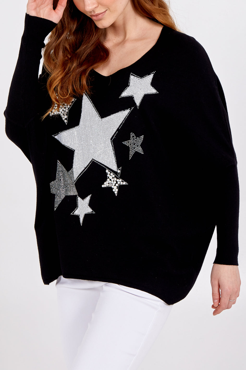 Embellished Star Jumper With Cuffed Sleeves