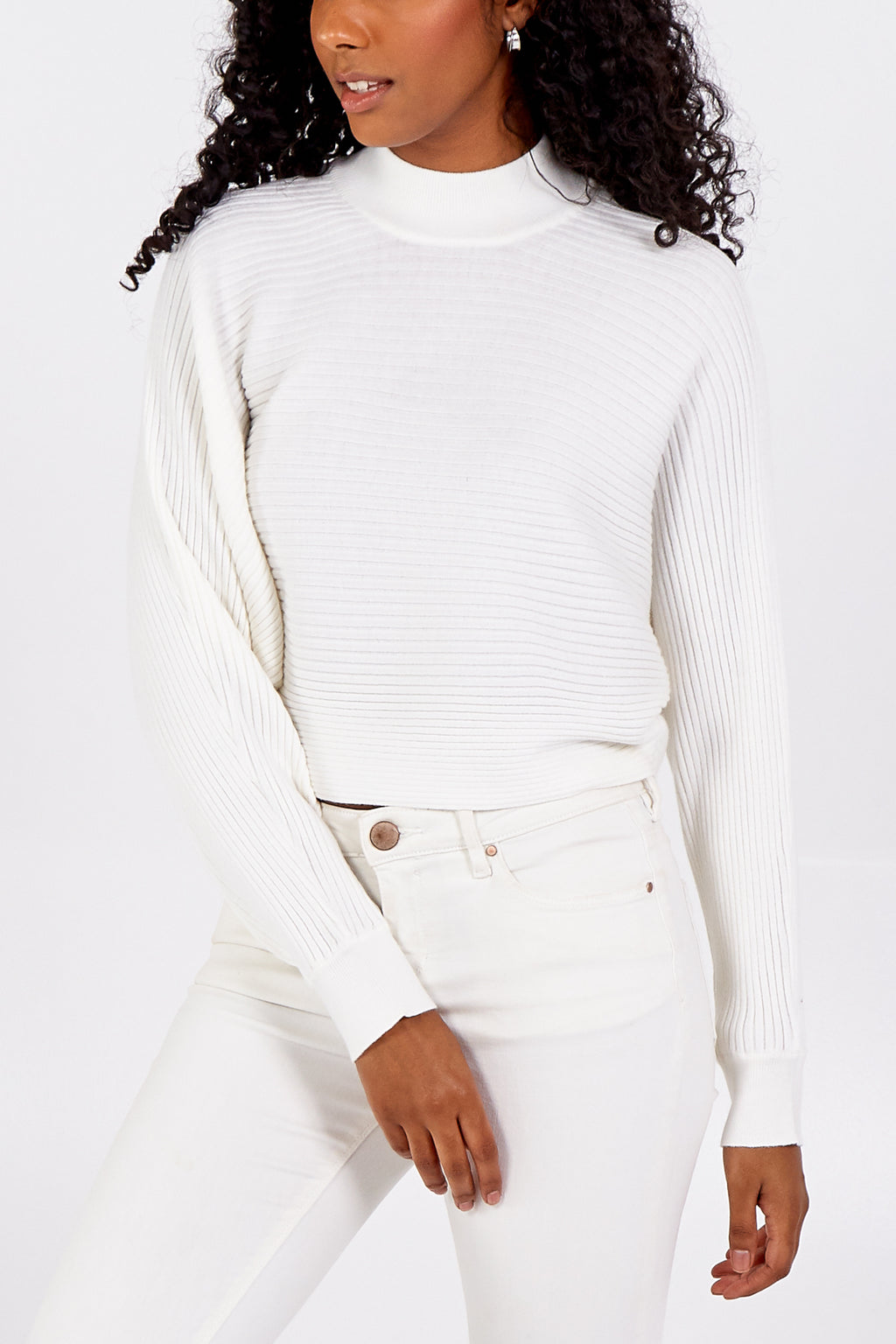 Oversized Crop Ribbed Jumper