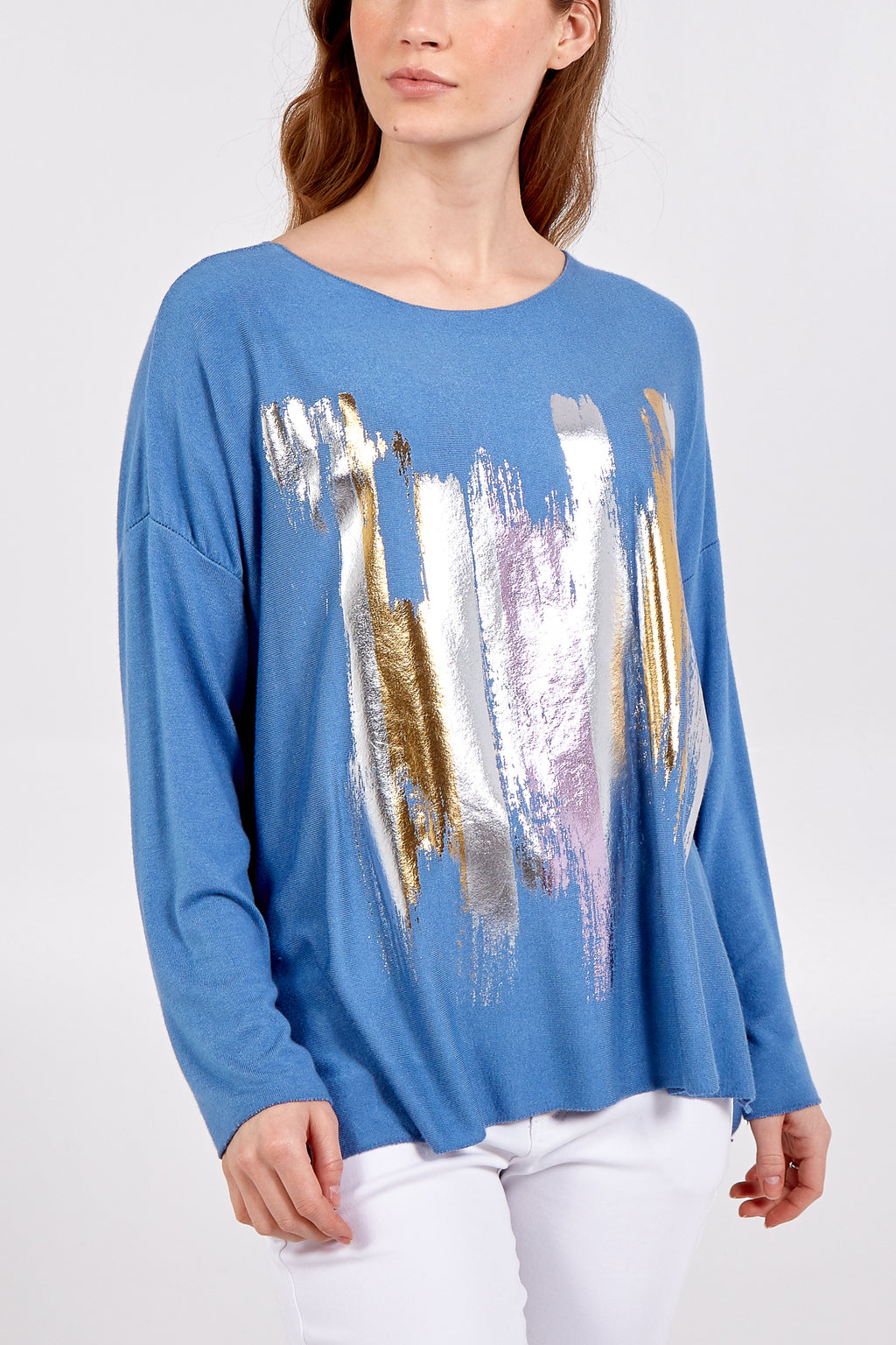 Soft Knit Abstract Long Sleeve Jumper