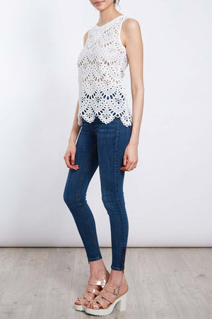 Cutwork Shell Vest