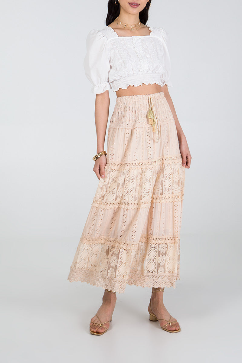 Anglaise Panelled Skirt Dress