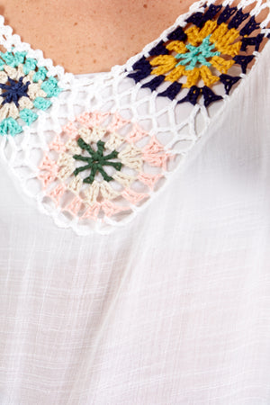 Crochet Trim Cover Up