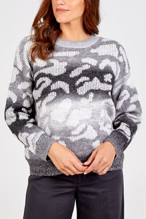 Ombre Animal Print Jumper