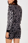 Leopard Knit Jumper & Short Set