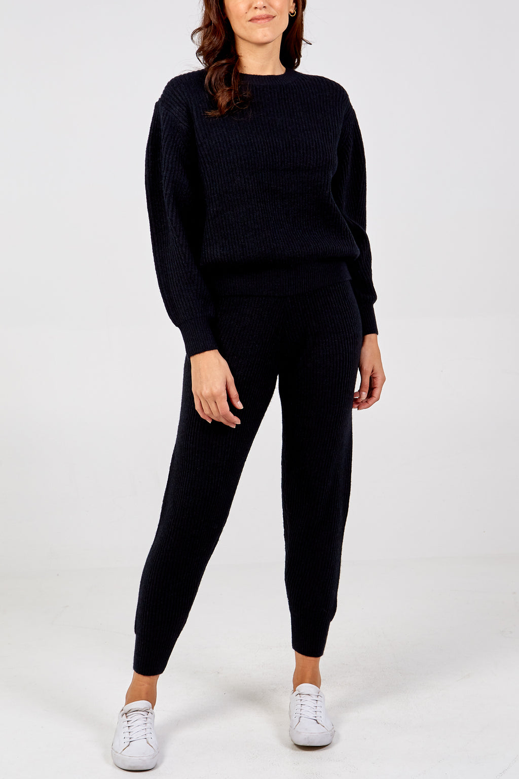 Knitted Round Neck Jumper and Jogger Set