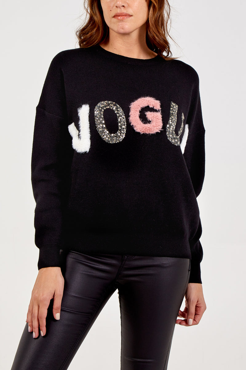 Embellished Vogue Jumper