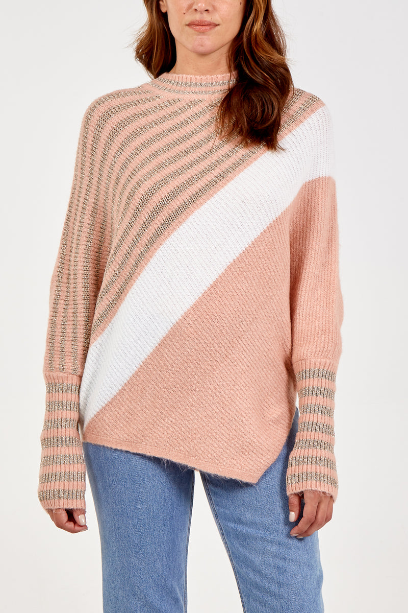 Striped Asymmetric Jumper