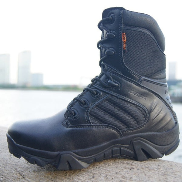 Military Tactical Mens Leather boots