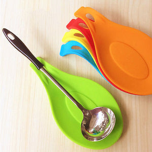 Random Color Multi Mat Kitchen Tools Silicone Mat Insulation Placemat Heat Resistant Put A Spoon cozinha Accessories