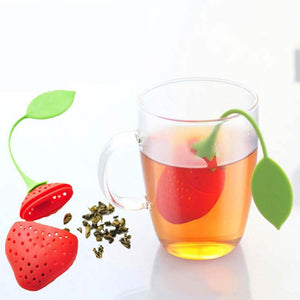 Tea Strainer Non-toxic Strawberry Shape Silicone